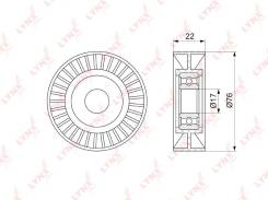 Ролик натяжной приводного ремня LYNXauto PB5347 PB5347