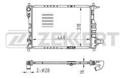 Радиатор охл. дв. Chevrolet Matiz M200 M250 05- Spark M200 05- Zekkert mk1007