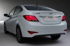 Бампер задний (новый) в цвет Hyundai Solaris Седан 14-17г