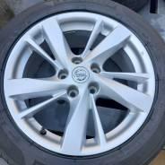 Оригинальные диски Nissan M. A. T. R17, 5-114.3+ шины 215/55R17 Michelin