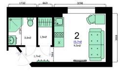 Комната, улица Болотниковская 20. юго - западный, частное лицо, 15,7кв.м.