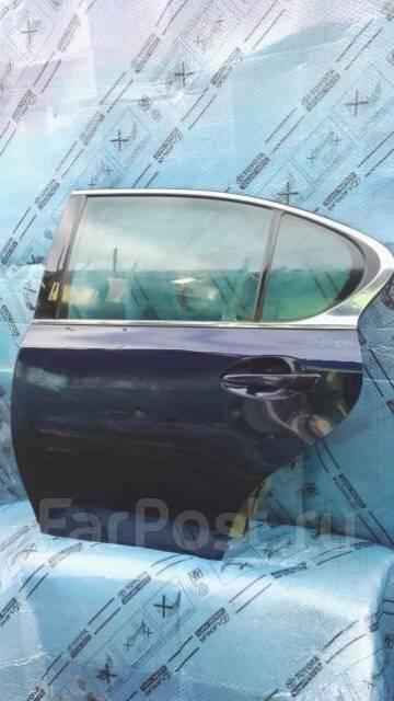 Дверь задняя левая в сборе синяя Lexus GS 4