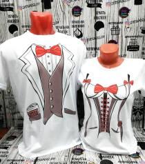 Свадебные футболки на заказ. Парные, семейные картинки и надписи,