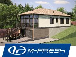 M-fresh Surf (Проект узкого дома для узкого участка с цоколем! ). 100-200 кв. м., 1 этаж, 3 комнаты, бетон