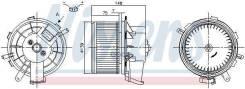 Вентилятор Отопителя Салона Citroen Jumper (250) (06-) 2.2 Hdi Nissens арт. 87290