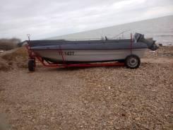 Байда(лодка) с мотором Стрингер 510. 2008 год, длина 5,20м., двигатель подвесной, 50,00л.с., бензин