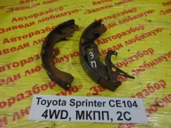Колодки тормозные задние барабанные к-кт Toyota Sprinter Toyota Sprinter 1993.09, левый