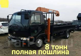 Nissan Diesel. 7л., борт 8 тонн + манипулятор, 6 900куб. см., 8 000кг., 4x2