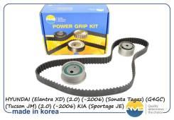 Комплект ГРМ (ремень ГРМ + 2 ролика). Hyundai Sonata Тагаз Tucson
