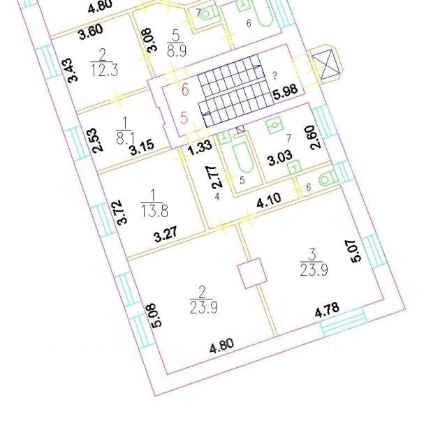 3-комнатная, улица Сергея Макеева 6. частное лицо, 82,0кв.м.