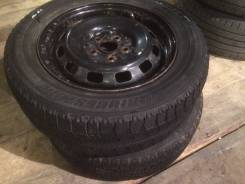 Зимние колеса Bridgestone 185/65 R14 + диски 5х100 Toyota 2шт