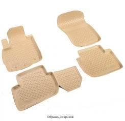 Коврики 3D в салон Norplast полиуретан бежевые для Citroen C4 Grand Picasso № NPA10-C14-170-B