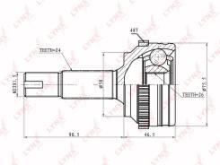 ШРУС подвески наружный/ перед прав/лев /CO7540A Toyota Vitz SCP10 99- LYNXauto CO7540A