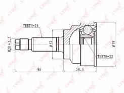 ШРУС подвески наружный/ перед прав/лев /CO4402 Kia Rio 1,5 LYNXauto CO4402