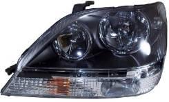 Фара Toyota Harrier/Lexus RX300 97-03 LH черная