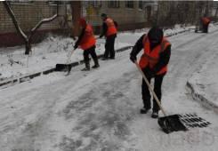 Уборка территории, снега