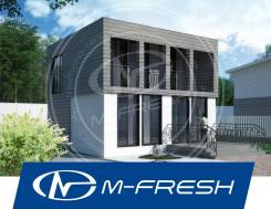 M-fresh Romeo! (Проект актуального дома с лоджией и витражами! ). 100-200 кв. м., 2 этажа, 4 комнаты, каркас