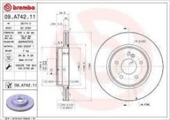 Диск тормозной задний Brembo 09A74211