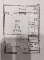 1-комнатная, улица Черняховского 5 стр. 1. 64, 71 микрорайоны, частное лицо, 42,0кв.м. План квартиры