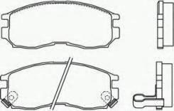 Комплект тормозных колодок диско Textar 2164701 Hyundai / Kia (Mobis): 58101M2A01. Mitsubishi: MB699174 MB699266 MB699702 MB858375 MB858583 MB895072