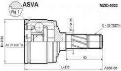 Шрус внутренний правый 25x35x26 Asva MZID5022 Hyundai / Kia (Mobis): 0K0112252 0K01122520 Kia Retona (Ce). Kia Sportage (K00). Mazda 626 Mk V