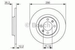 Тормозной диск Bosch 0986479118 Citroen / Peugeot: 4249F7 BD1642 Citro?n C4 Ii (B7). Citro?n Ds4. Citro?n Ds5. Ds Ds 4 / Ds 4 Crossback. Ds Ds5.