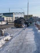 Уборка территории от снега минипогрузчиком
