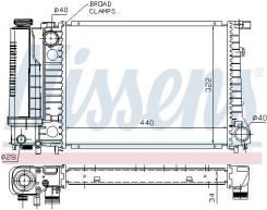 Радиатор охлаждения двигателя. BMW 5-Series, E34 BMW 3-Series, E30, E36, E30/2, E30/2C, E30/4, E30/5, E36/2, E36/2C, E36/3, E36/4, E36/5