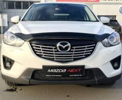 Дефлектор капота (мухобойка) Mazda CX-5 2012-2016 темный