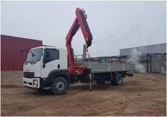 Fassi F155A2. КМУ 6,2 тонн Fassi F155A.0.22 на шасси Isuzu Forward 18 тонн Евро-5, 8 000 куб. см., 8 000 кг., 4x2