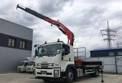 Fassi F245A.0. КМУ 9 тонн .22 на шасси Isuzu Forward 18 тонн Евро-5, 8 000 куб. см., 10 000 кг., 4x2