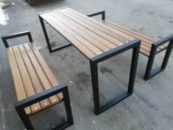Комплект. Стол и две скамейки.