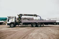 Hiab. КМУ 7 тонн HIAB 190TM на шасси Daewoo Novus (15 т), 10 964куб. см., 15 000кг., 6x4