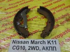 Колодки тормозные задние барабанные к-кт Nissan March K11 Nissan March K11, левый