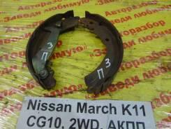 Колодки тормозные задние барабанные к-кт Nissan March K11 Nissan March K11, правый