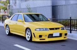 Комплект передних крыльев GTR пластик +30мм для Nissan skyline r33