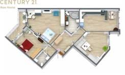 6 комнат и более, улица Прапорщика Комарова 45. Центр, проверенное агентство, 252,0кв.м. План квартиры