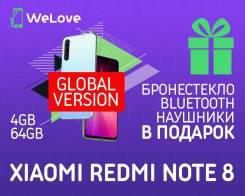 Xiaomi Redmi Note 8. Новый, 64 Гб, Белый, 3G, 4G LTE, Dual-SIM