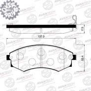 Колодки тормозные дисковые Avantech (противоскрипная пластина в компл. ) Avantech AV069