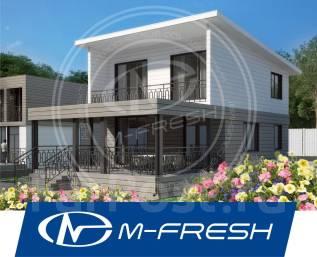 M-fresh Vostorg! (Проект восхитительного дома с огромной террасой! ). 100-200 кв. м., 2 этажа, 4 комнаты, каркас