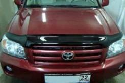Дефлектор капота. Toyota Highlander Toyota Kluger V, ACU20W, ACU25W, MCU20W, MCU25W, MHU28W 1MZFE, 2AZFE, 3MZFE