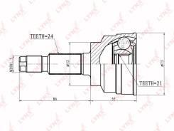 ШРУС подвески наружный/ перед прав/лев /CO3625 Hyundai Sonata V 2,0 05- LYNXauto CO3625