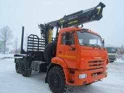 Велмаш VM10L74. Лесовозный тягач на шасси Камаз 43118 с манипулятором M, 11 762куб. см., 10 000кг., 6x6