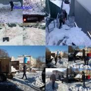 Уборка и вывоз снега в ручную и спец техникой