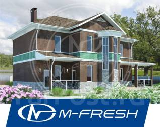 M-fresh Progressive House! (Доработанный проект современного дома! ). 200-300 кв. м., 2 этажа, 5 комнат, бетон