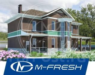 M-fresh Progressive House! (Доработанный проект современного дома! ). до 100 кв. м., 2 этажа, 5 комнат, бетон