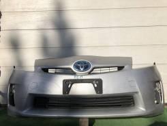 Бампер передний серебро Toyota Prius ZVW30