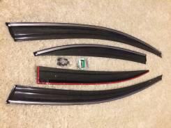 Honda Civic Седан 2012 - Дефлекторы боковых окон (Ветровики) с хромом