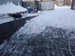 Уборка снега. Сах. посёлок