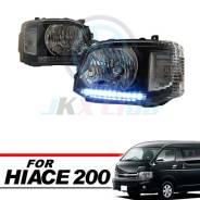 Фары диодные Toyota Hiace 2011+ (белые диоды)